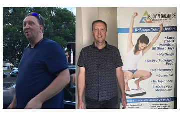 Wow! Check out Tim's Before and After Pics! He's down 45 pounds!!